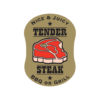 Butcher Label Tender Steak Meat Label