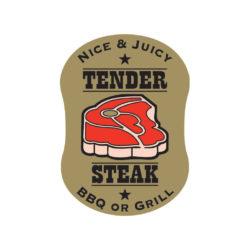 Butcher Label Tender Steak Meat Label