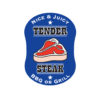 Tender Steak Blue Butchers Meat Labels