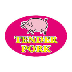 Meat Label Tender Pork Pig Butcher Label