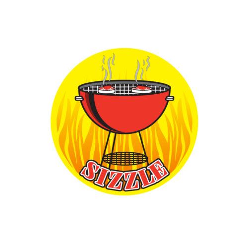 Sizzle Meat Butcher Label