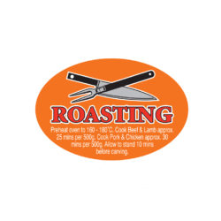 Roasting Butcher Meat Display Label