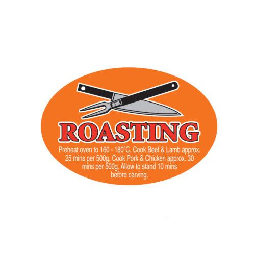 Roasting Butcher Meat Display Label