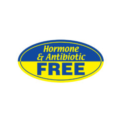 Hormone antibiotic free Butcher Meat Display Label