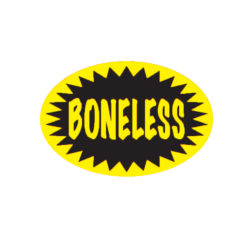 Boneless Butcher Meat Display Label