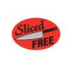 Sliced Free Butcher Meat Display Label