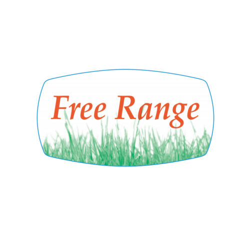 Free Range Butcher Meat Label Produce Label Free Range Farming