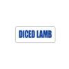 Diced Lamb Freezer Sticker