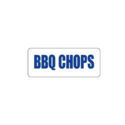 Butcher Freezer Meat Label BBQ Chops