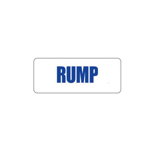 Butcher Freezer Sticker Rump