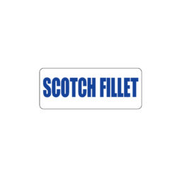 Butcher Freezer Sticker Scotch Fillet