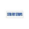 Butcher Freezer Label Stir Fry Strips
