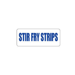 Butcher Freezer Label Stir Fry Strips