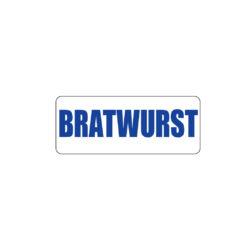 Butcher Freezer Label Bratwurst