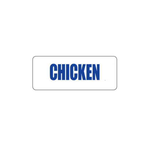Butcher Freezer Label Chicken