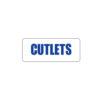 Butcher Freezer Label Cutlets