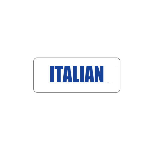 Butcher Freezer Label Italian