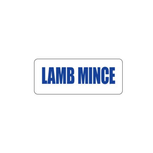 Butcher Freezer Label Lamb