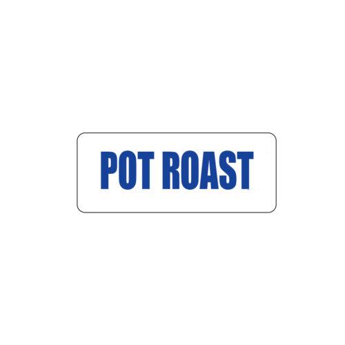 Butcher Freezer Label Pot Roast.